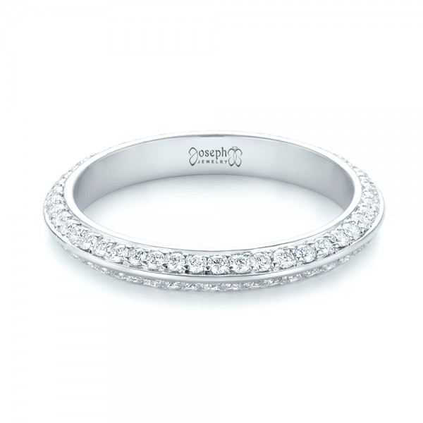 Custom Eternity Diamond Wedding Band - Laying View