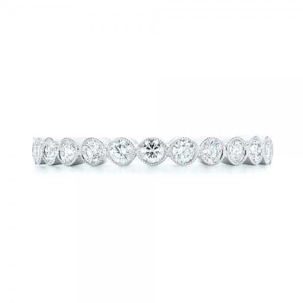 Custom Eternity Diamond Wedding Band - Top View