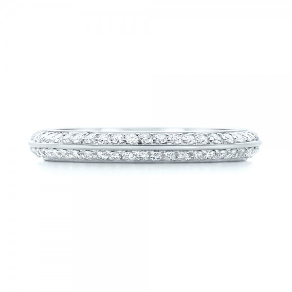 Custom Eternity Diamond Wedding Band - Top View