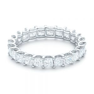 Custom Eternity Princess Cut Diamond Wedding Band