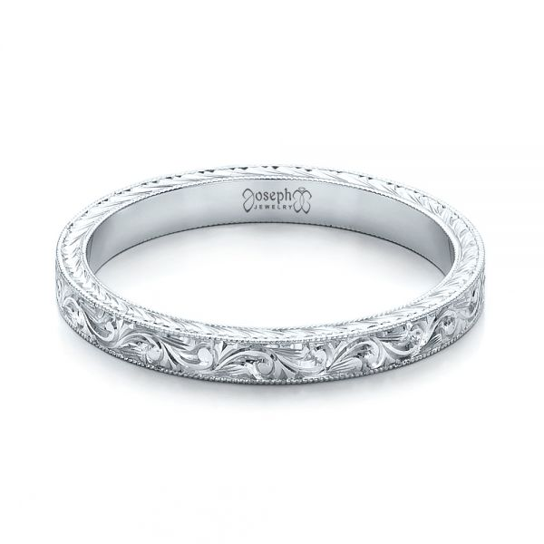 Engraving Ideas For Wedding Bands: Custom Hand Engraved Wedding Band #100814