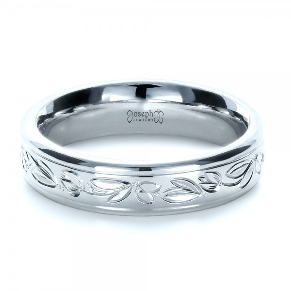 Custom Hand Engraved Wedding Ring - Laying View