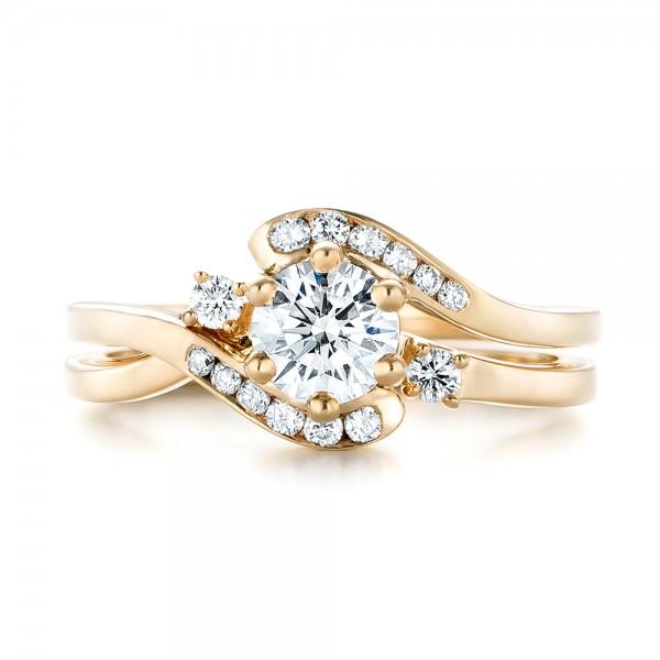 Custom Interlocking Diamond Wedding Band - Top View
