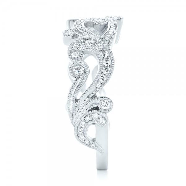 Custom Jacket Style Diamond Wedding Band - Side View