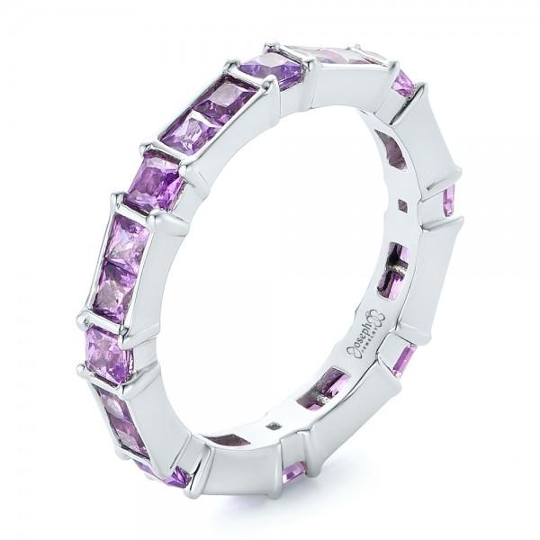 Custom Lavender Sapphire Wedding Band