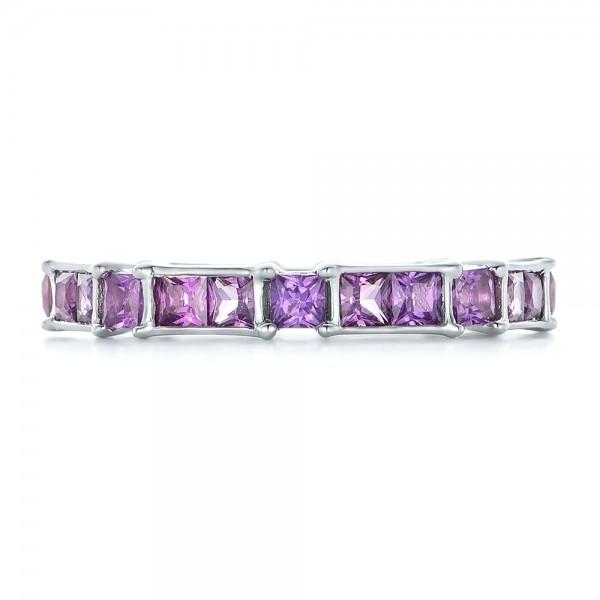 Custom Lavender Sapphire Wedding Band - Top View