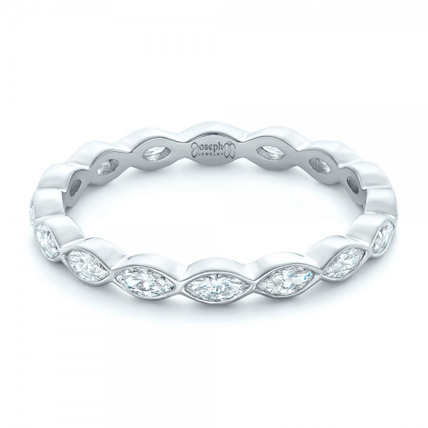 Custom Marquise Diamond Eternity Wedding Band