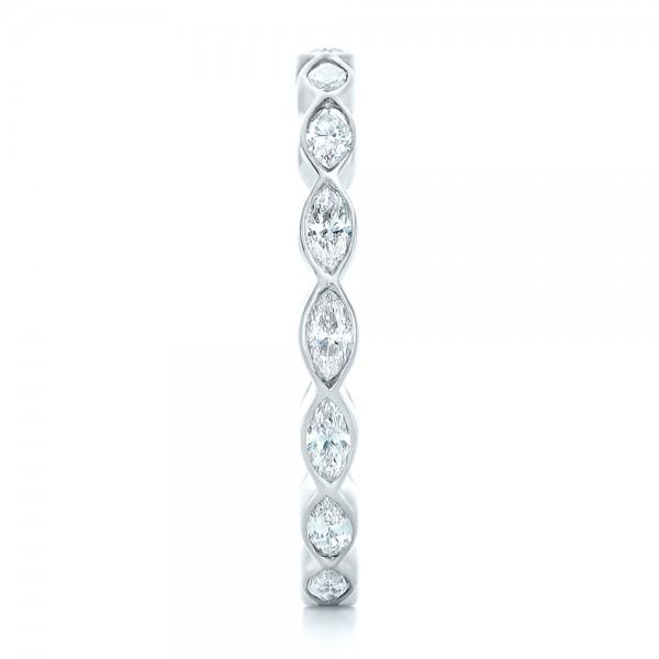 wedding rings custom marquise diamond eternity wedding band