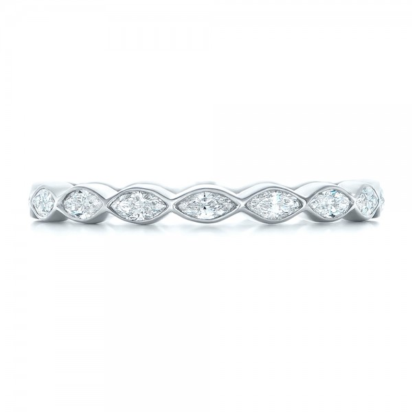 Custom Marquise Diamond Eternity Wedding Band 102287