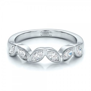 Custom Marquise Diamond Wedding Band