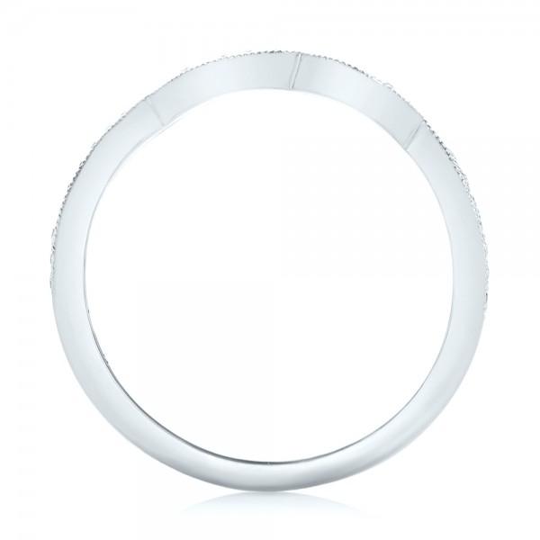 Custom Matching Diamond Wedding Band - Finger Through View