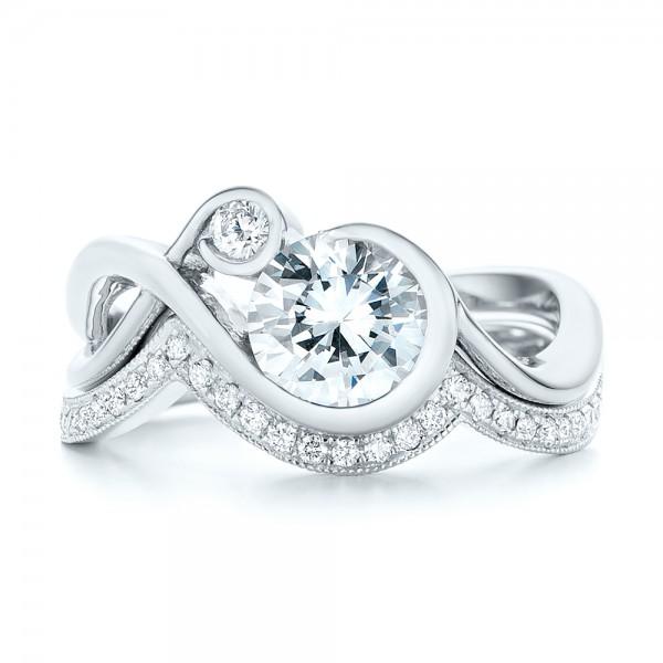Custom Matching Diamond Wedding Band - Top View