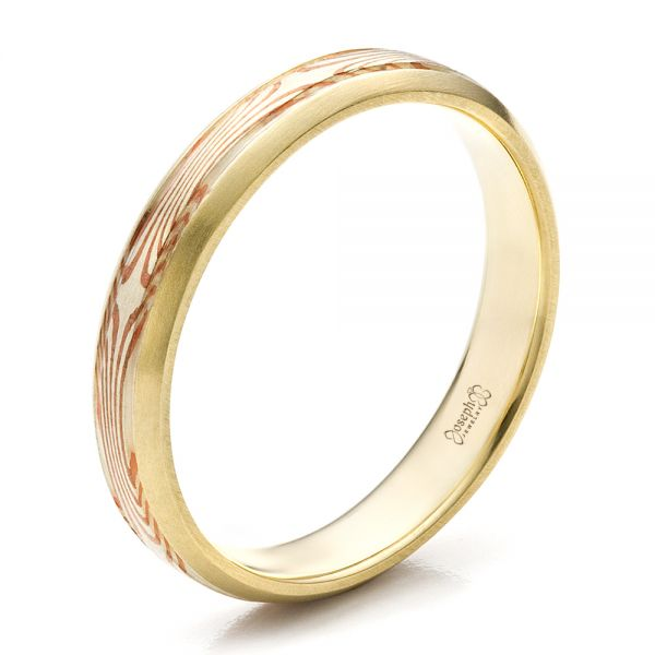 Custom Mokume Wedding Band - Image
