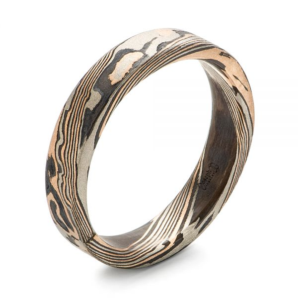 Custom Mokume Women's Wedding Band - Image