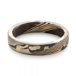Custom Mokume Women's Wedding Band