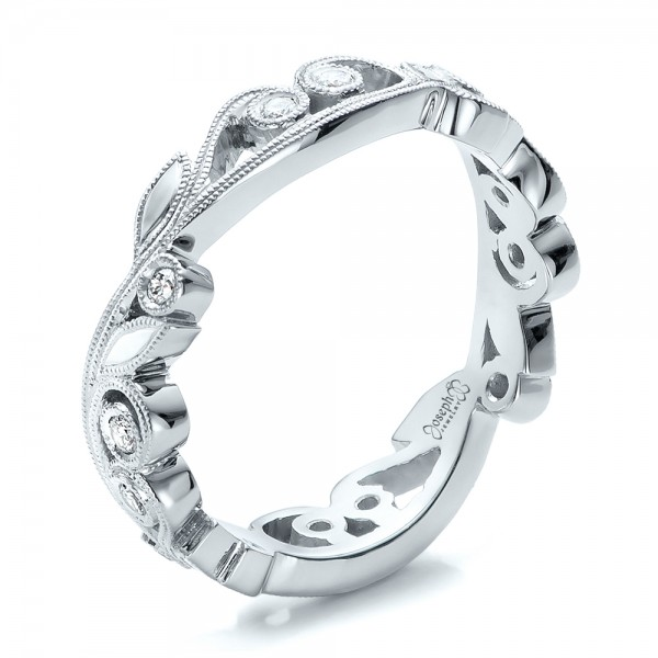Custom Organic Diamond Eternity Band