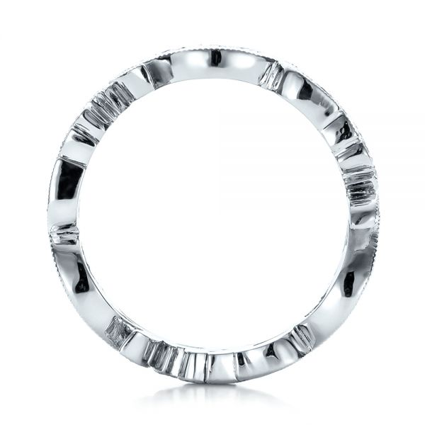 Platinum Custom Organic Diamond Eternity Band - Front View -