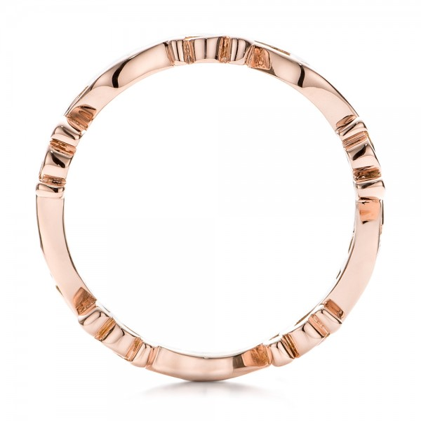 Custom Organic Diamond Eternity Band - Finger Through View