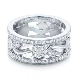 Custom Organic Diamond Wedding Ring
