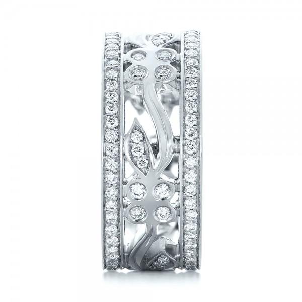 Custom Organic Diamond Wedding Ring - Side View