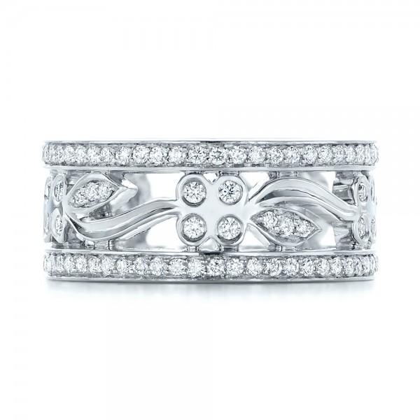 Custom Organic Diamond Wedding Ring - Top View