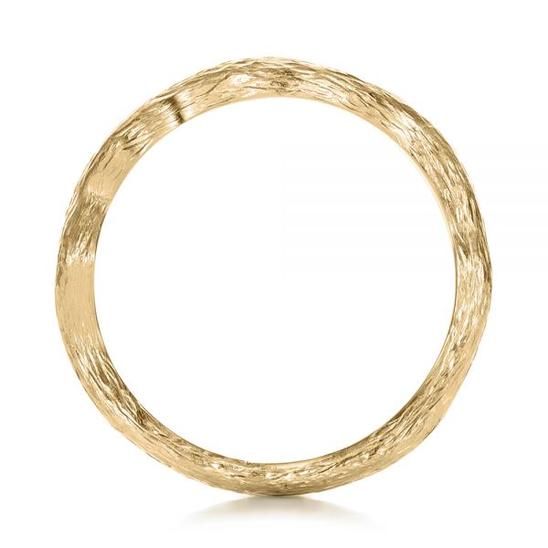 14k Yellow Gold 14k Yellow Gold Custom Organic Wedding Band - Front View -