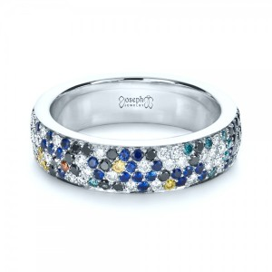 Custom Pattern Diamond Pave Engagement Band