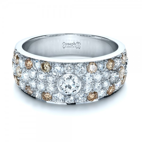 Custom Pave Diamond Ring - Laying View
