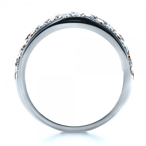 Custom Pave Diamond Ring - Finger Through View