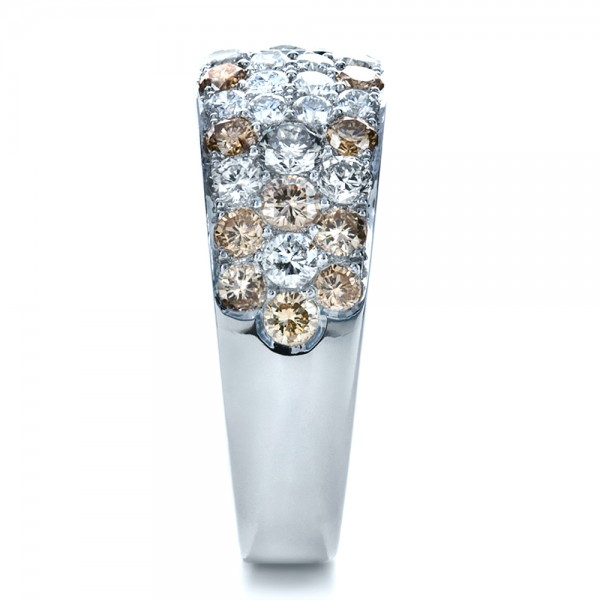 Custom Pave Diamond Ring - Side View