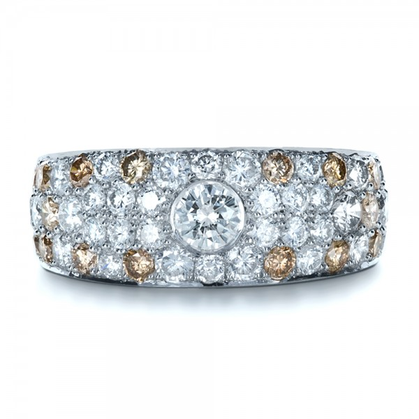 Custom Pave Diamond Ring - Top View