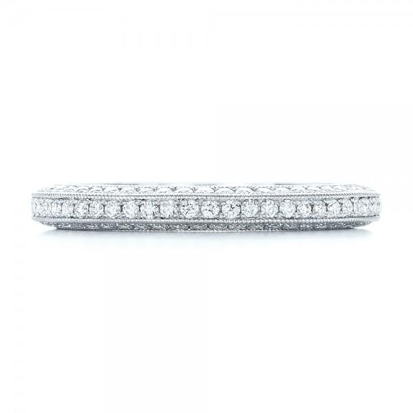 Custom Pave Diamond Wedding Band - Top View