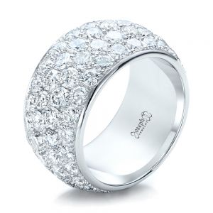 Custom Pave Diamond Wedding Ring - Image