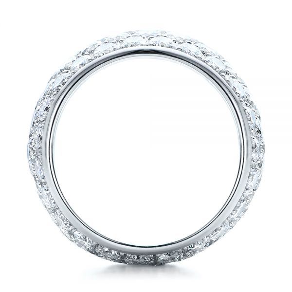 Custom Pave Diamond Wedding Ring - Front View -  100875 - Thumbnail