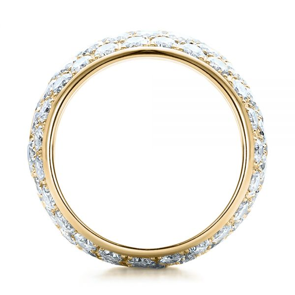 18k Yellow Gold 18k Yellow Gold Custom Pave Diamond Wedding Ring - Front View -