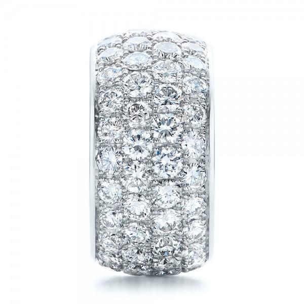 Custom Pave Diamond Wedding Ring - Side View