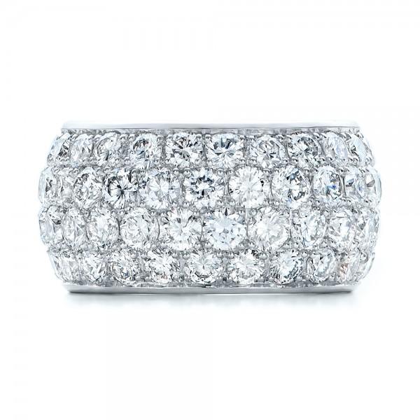 Custom Pave Diamond Wedding Ring - Top View