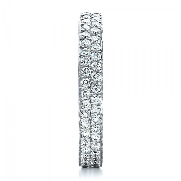 Custom Pave Eternity Band - Side View