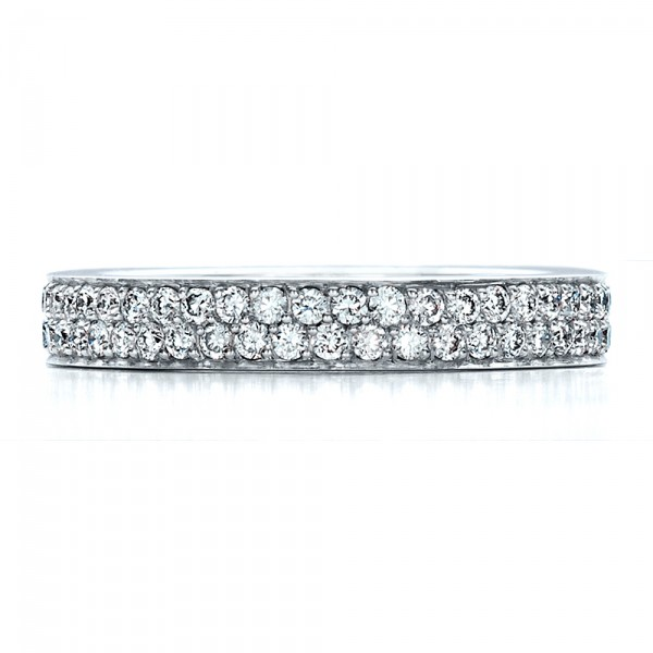 Custom Pave Eternity Band - Top View