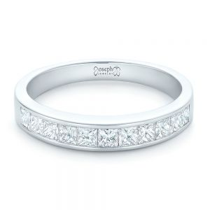 Custom Princess Cut Diamond Wedding Band