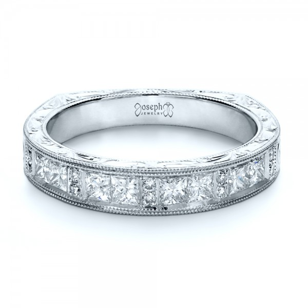 Custom Princess Cut Diamond Women's Wedding Band