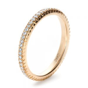 Custom Rose Gold Diamond Eternity Band - Image