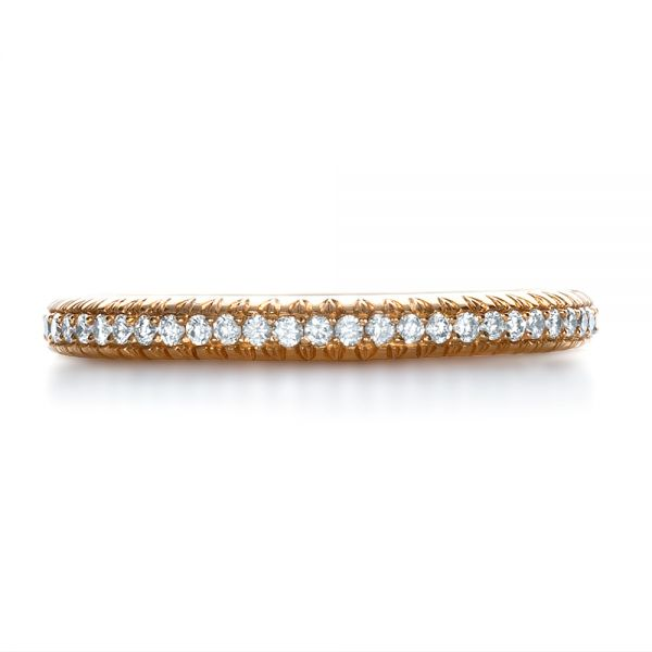 18k Rose Gold Custom Diamond Eternity Band - Top View -