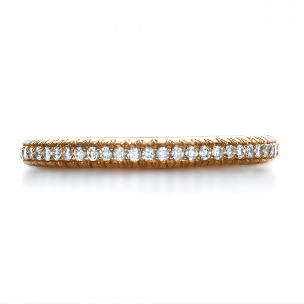 Custom Rose Gold Diamond Eternity Band - Top View