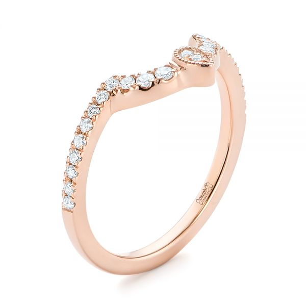 Custom Rose Gold Diamond Wedding Band - Image