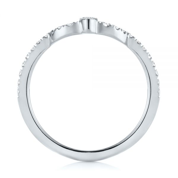 14k White Gold 14k White Gold Custom Diamond Wedding Band - Front View -