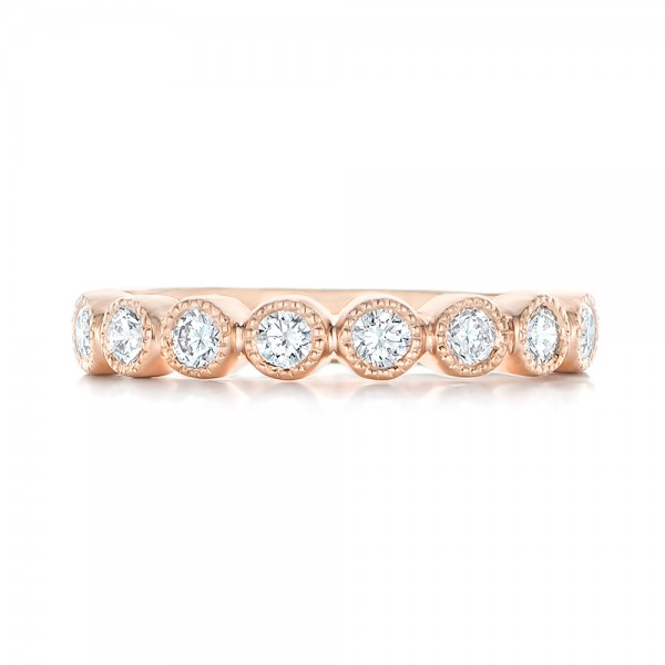 custom rose gold diamond wedding band 102849 - Rose Gold Diamond Wedding Ring