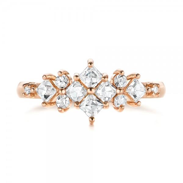 Custom Rose Gold Diamond Wedding Band - Top View