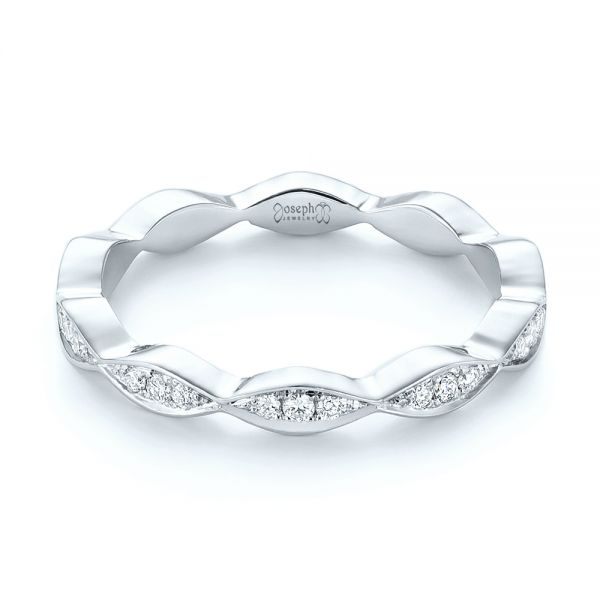 Platinum Platinum Custom Eternity Diamond Wedding Band - Flat View -  103459