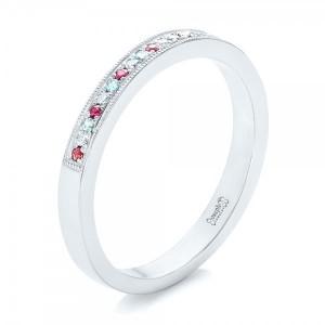 Womens Gemstone Wedding Rings Bellevue Seattle Custom Jewelry